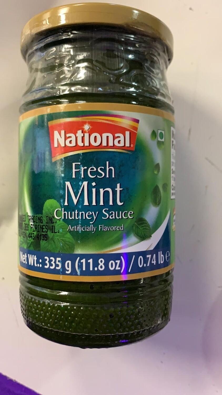 NATIONAL (S/C) FRESH MINT CHUTNEY 335G
