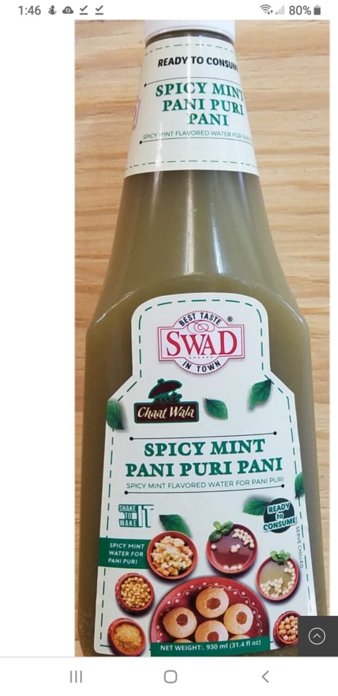 SWAD PANI PURI Pani Spicy 930ml