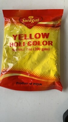 SWAGAT HOLI COLOR YELLOW 200 GM
