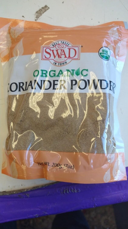 SWAD ORGANIC CORRIANDER  POWDER  7oz