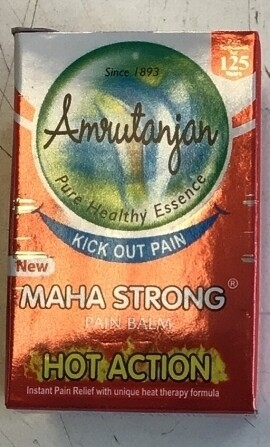 AMRUTANJAN RED MAHA STRONG BALM 8ml