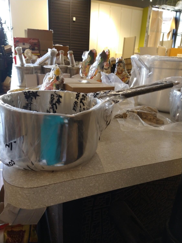 Nagina cookware SAUCE PAN ALMUNIUM WITH S/S HANDEL
