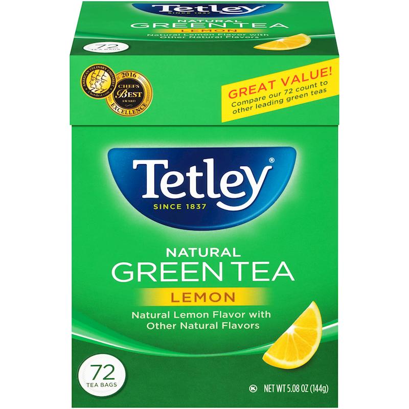 TETLEY TEA BAGS (GREEN TEA + LEMON) 72BGS