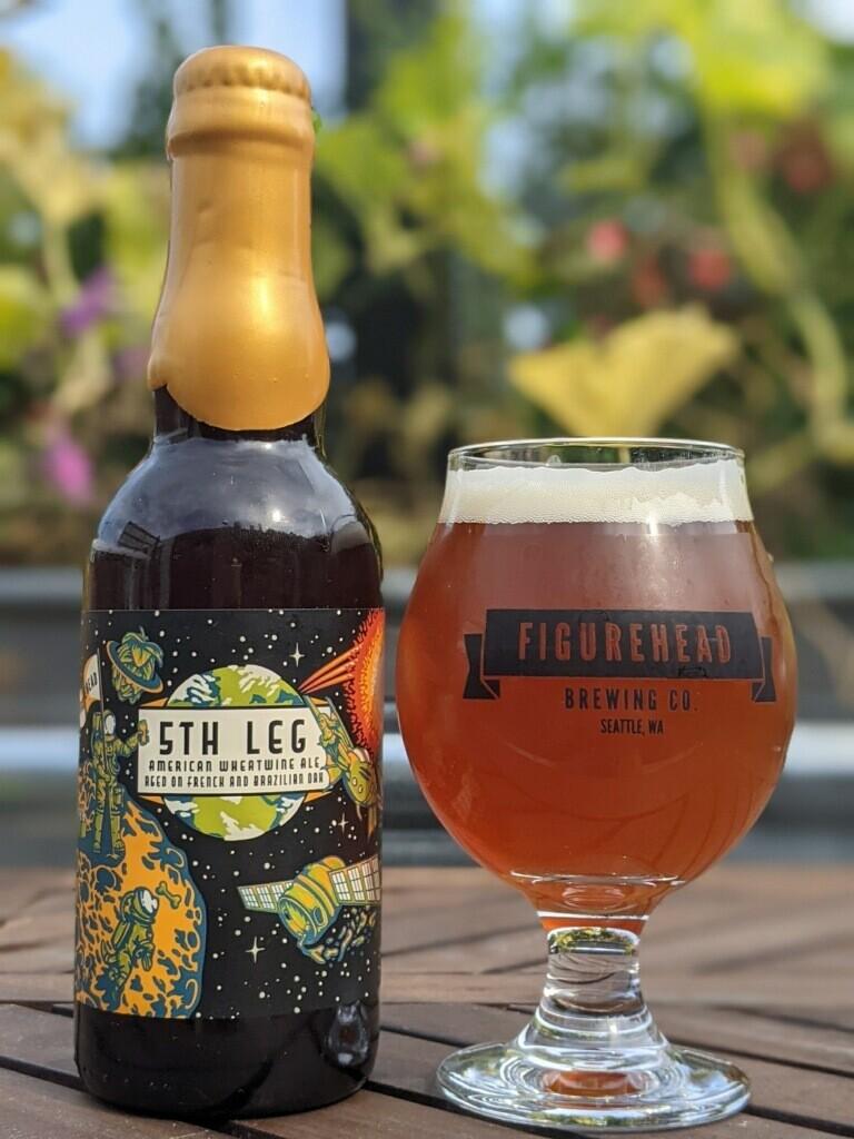 5th Leg (Wheatwine Ale aged on French and Brazilian Oak) 375ml