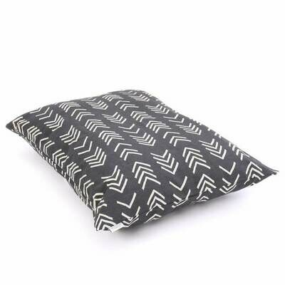 Modern Mud Cloth Black Dog Bed Cover with insert