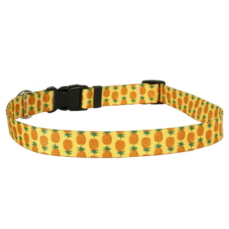 Pineapples on Yellow Collar