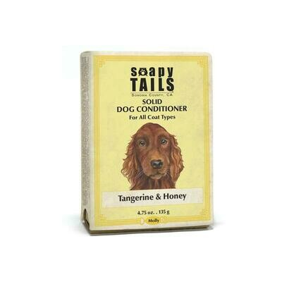 Soapy Tails All Coat Type Tangerine & Honey Solid Conditioner Bar