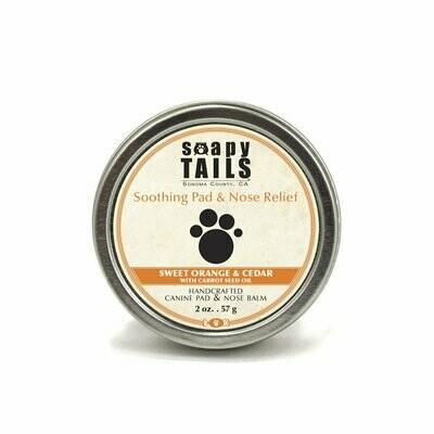 Soapy Tails Pad Balm Cedar & Sweet Orange 2 oz.