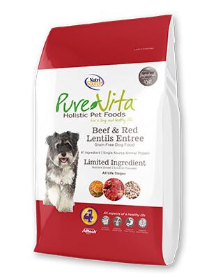 PureVita Grain Free Beef Lentil Dog