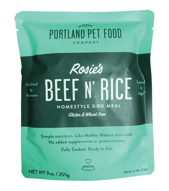 Portland Pet Food Company Rosies Beef N Rice Meal