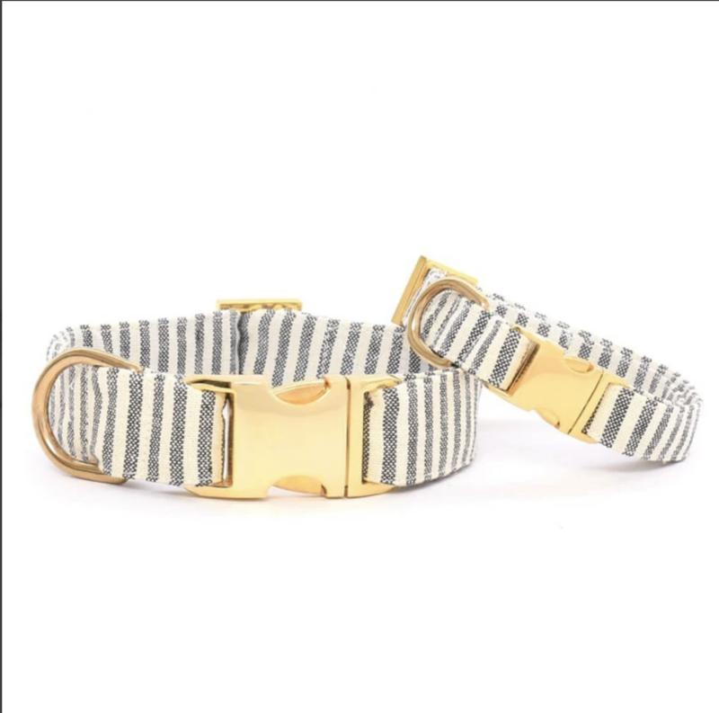 Foggy Dog Charcoal Stripe Dog Collar