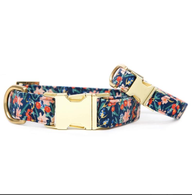 Foggy Dog Inky Blooms Dog Collar