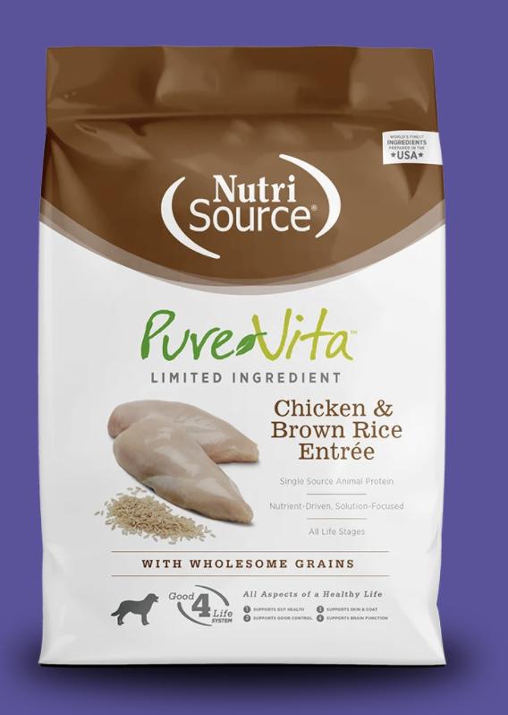 PureVita Chicken & Brown Rice (Grain) Dog Food