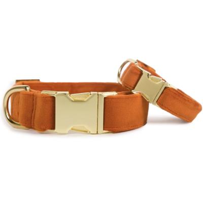 Foggy Dog Pumpkin Velvet Dog Collar