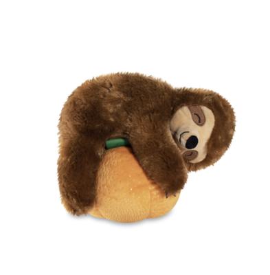 Pumpkin Sloth Plush Dog Toy