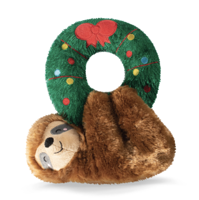 Sloth Hanging from Wreath