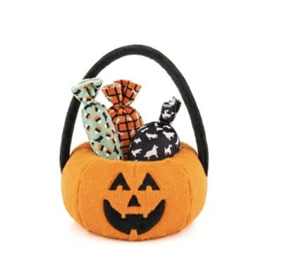 Halloween Pumpkin Basket with Candies