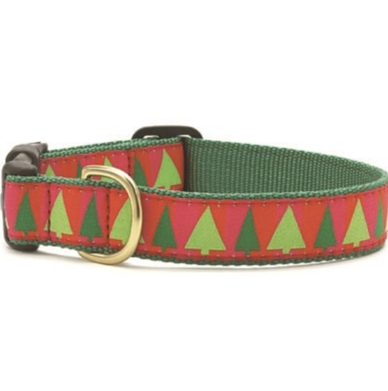 Up Country Festive Trees Dog Collar