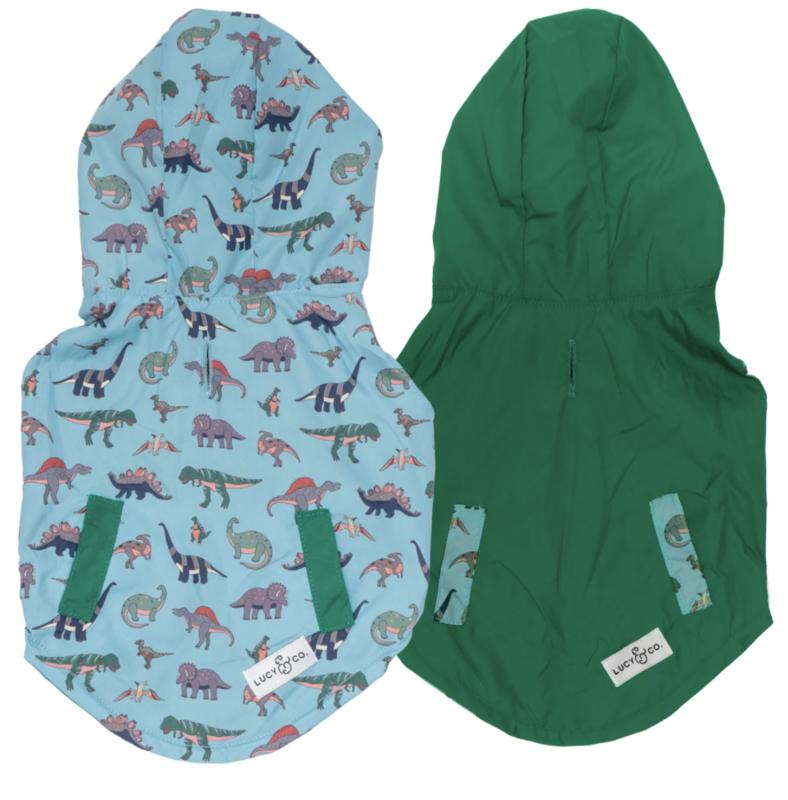 Lucy & Co Dinomite Delight Reversible Raincoat