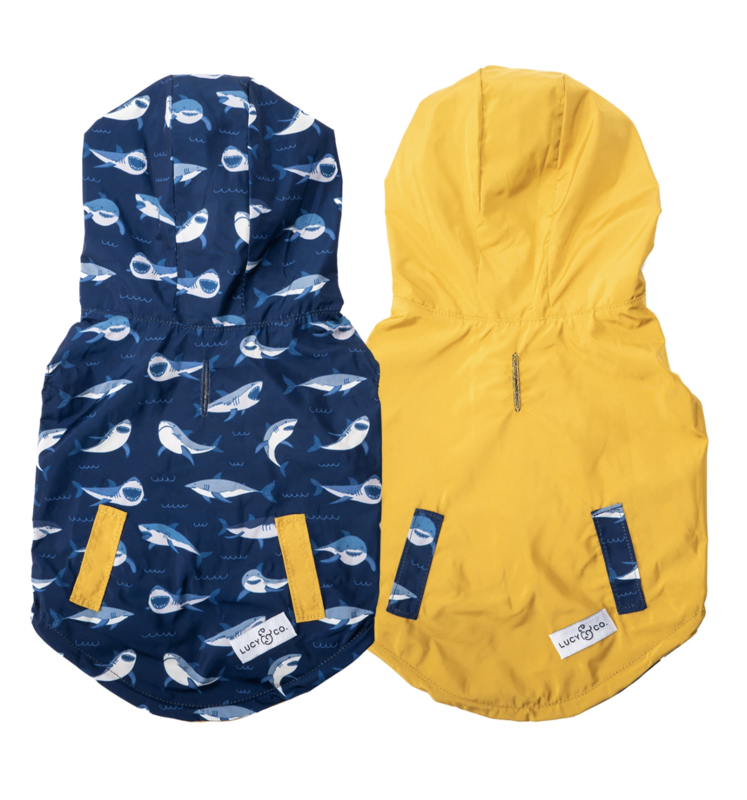 Lucy & Co Shark Attack Reversible Raincoat