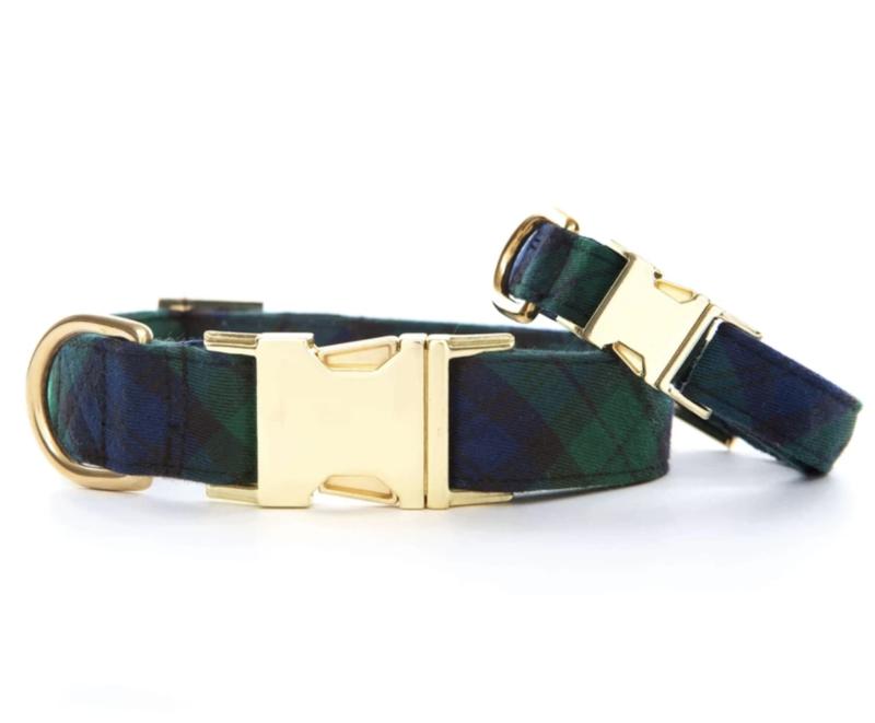 Foggy Dog Black Watch Plaid Dog Collar