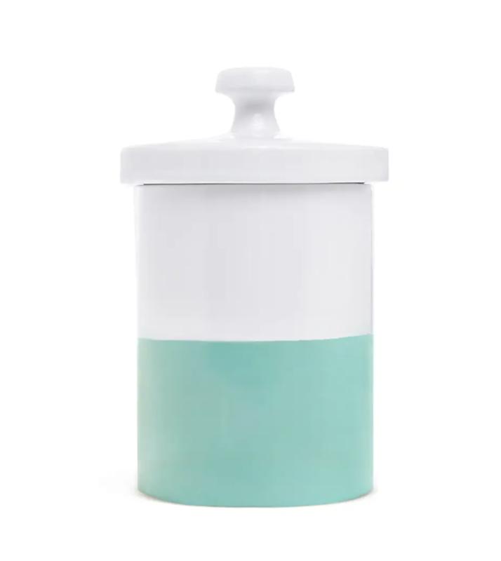 Dipped Color Ceramic Dog Treat Jar
