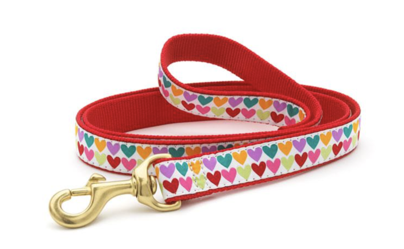 Pop Hearts Lead 6 ft. double sided