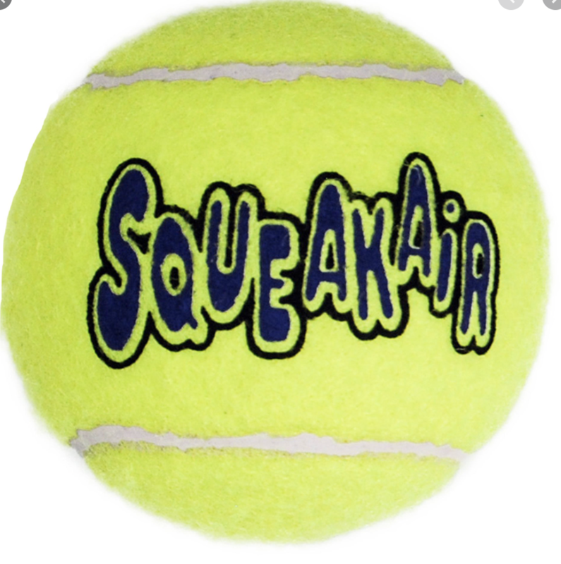 Kong Squeaker Tennis Ball Individual Medium Size