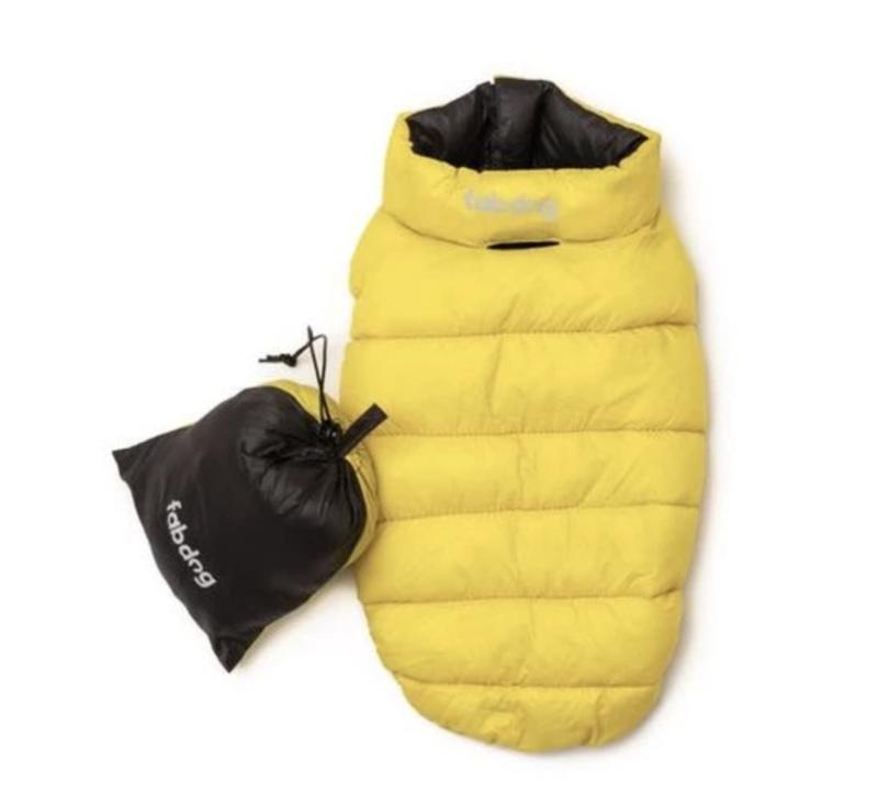 Yellow & Grey Pack N Go Reversible Puffer