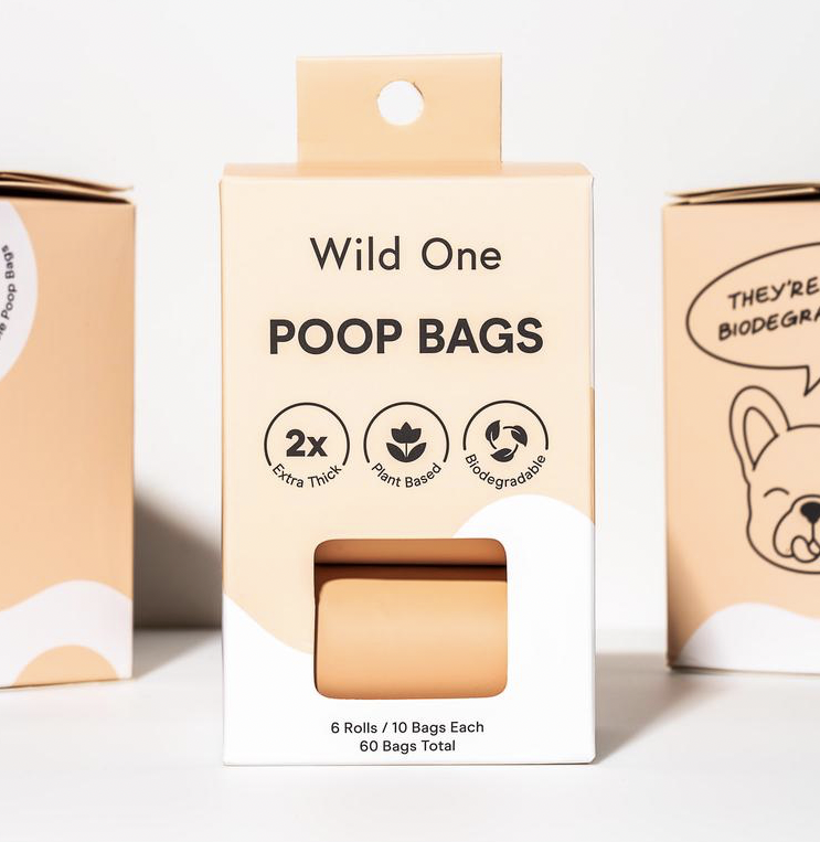 Wild One Tan Poop Bags