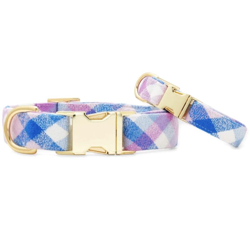 Crocus Flannel Dog Collar