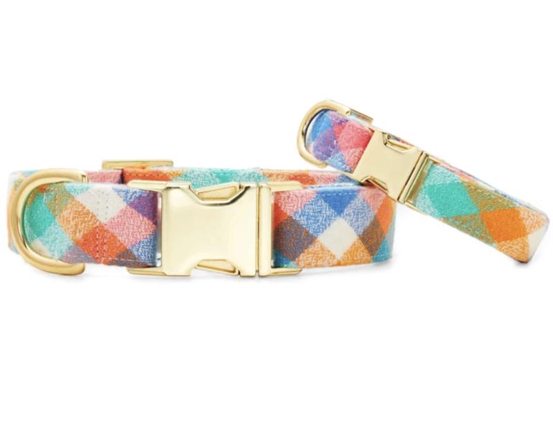 Easter Egg Flannel Dog Collar