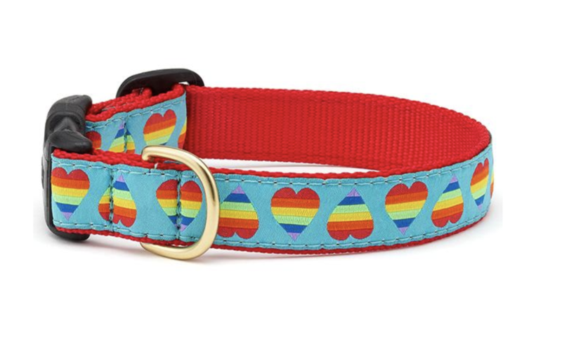 Up Country Rainbow Hearts Collar