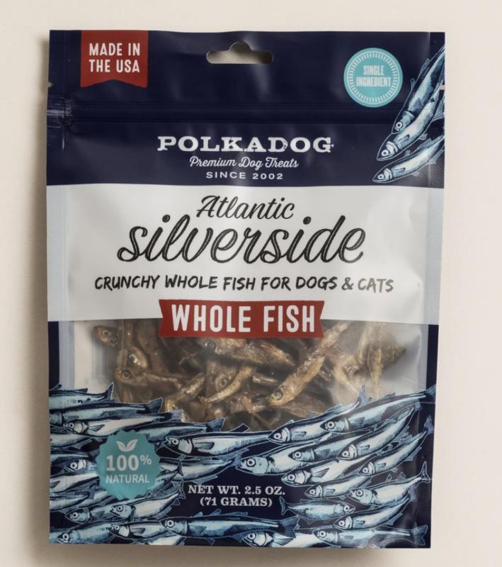 Polka Dog Silverside Whole fish 2.5 oz