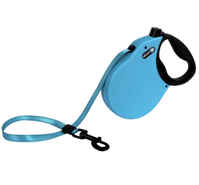 Alcott Adventure Retractable Leash Blue