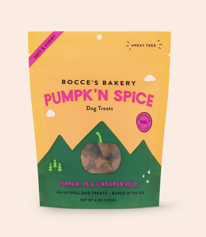 Bocce's Bakery Pumpkin Spice, Soft + Chewy
