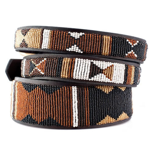 Kenyan Collection Earth Beaded Dog Collar