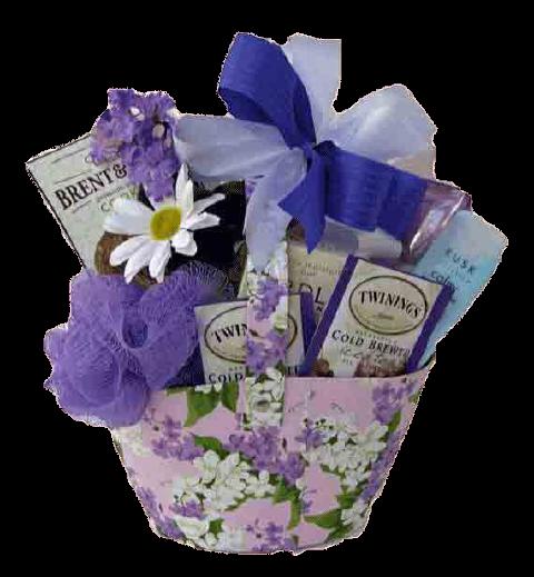 Lavender Gift Basket for Woman