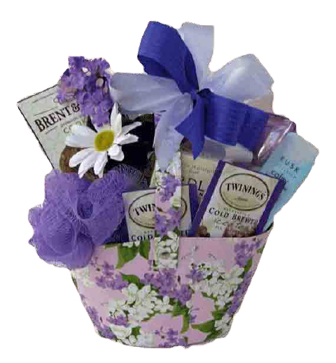 Lavender Spa Gift Basket for Woman