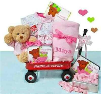 It's A Girl Radio Flyer Gift