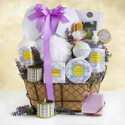 Lavender Spa Gift Basket - Large