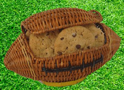 Football Cookie Basket