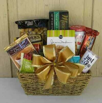 Gourmet Gold Gift Basket
