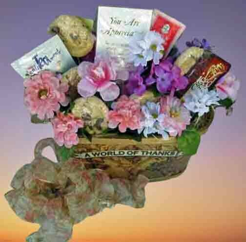 Thank You Cookie Bouquet Gift Basket