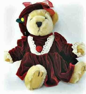 Collectible Pickford Brass Button Bear named Pearl