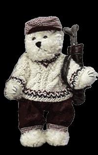 Golfing Bear