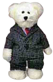 Teddy Bear Wearing a Suit