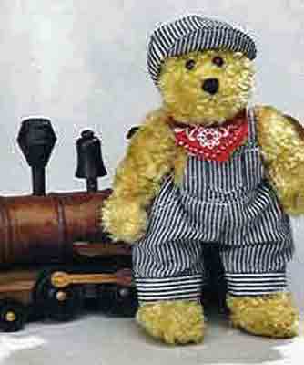 Train Engineer Bear - Railroad Bear