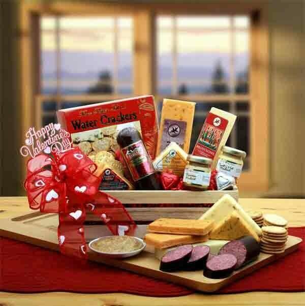 Valentine's Sausage and Cheese Gift Box