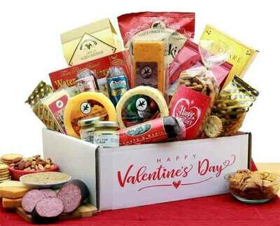 Valentine's Day Deluxe Meat and Cheese Gift Box